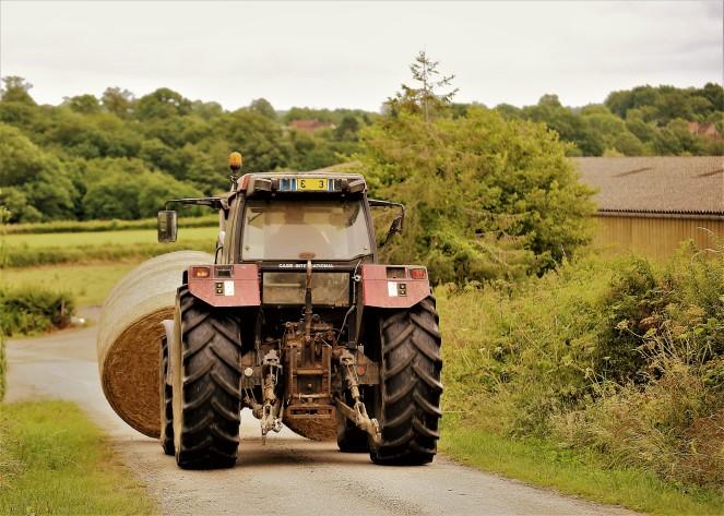 Judi Castille Tractor with hay bales