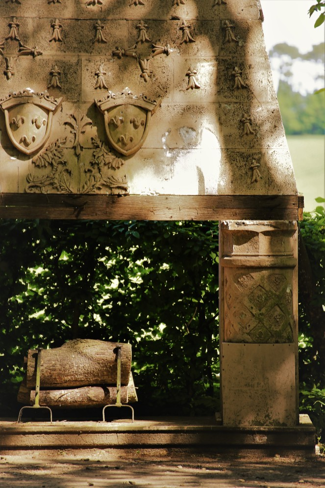 Judi Castille Chateau Du Rivau fireplace