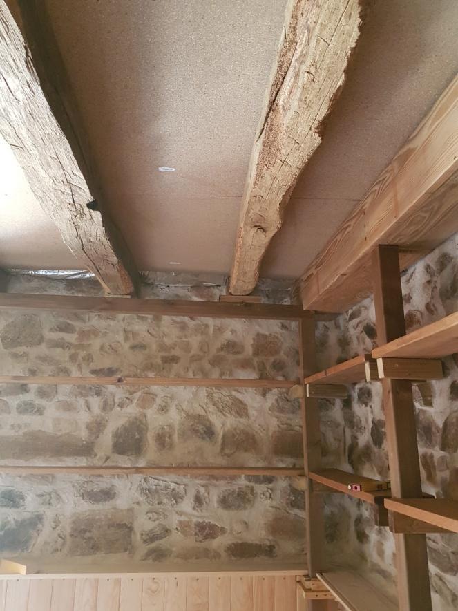 Judi Castille limewash on barn ceiling