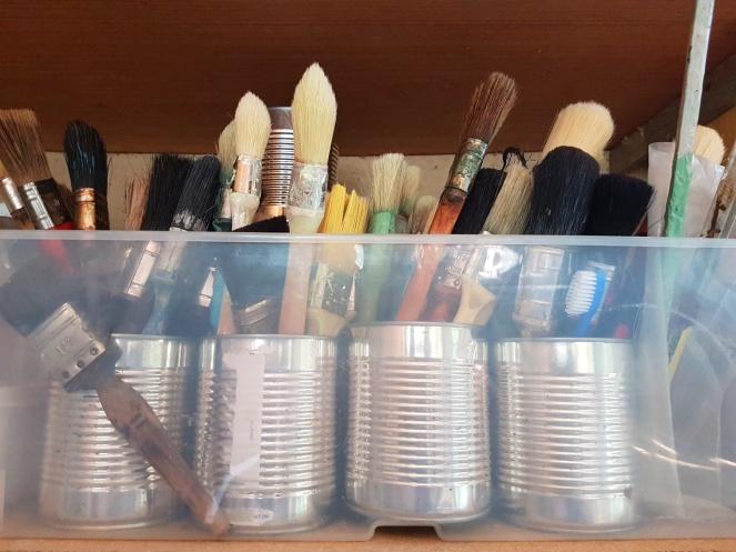 Judi Castille my paintbrush collection